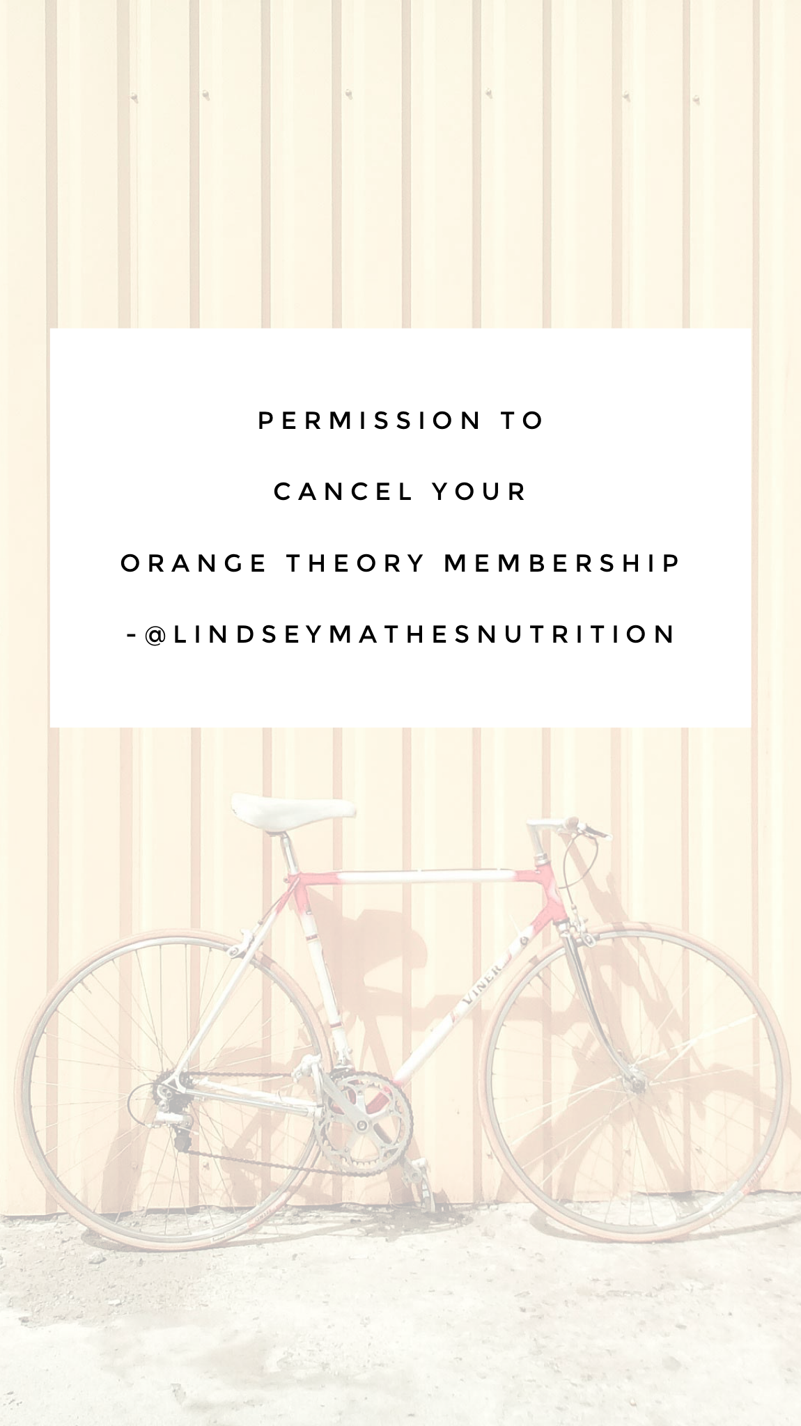 Permission to Cancel Your Orange Theory Membership